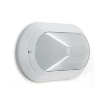 Surface-mounted light fixture / compact fluorescent / halogen / oval