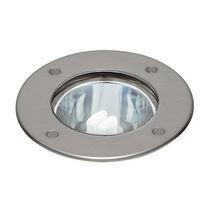 Recessed floor light fixture / LED / halogen / round