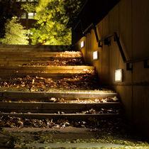 Recessed wall light fixture / compact fluorescent / halogen / rectangular