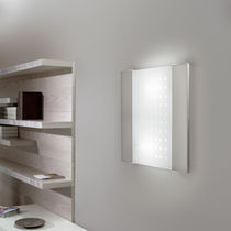 Contemporary wall light / steel / extruded aluminum / glass