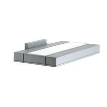 Contemporary wall light / cast aluminum / LED / rectangular