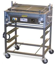 Doughnut glazing prep table / stainless steel / on casters