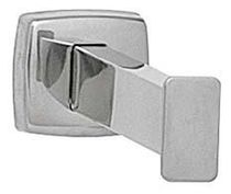 Contemporary coat hook / metal / stainless steel