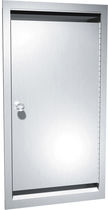 Contemporary bathroom cabinet / stainless steel