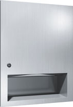 Wall-mounted paper towel dispenser / metal / stainless steel