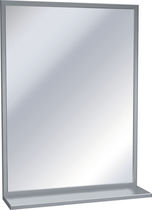Wall-mounted mirror / contemporary / rectangular / commercial