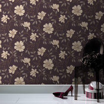 Traditional wallpaper / floral / washable