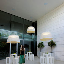 Pendant lamp / contemporary / glass / methacrylate