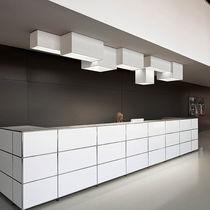 Contemporary ceiling light / rectangular / methacrylate / LED