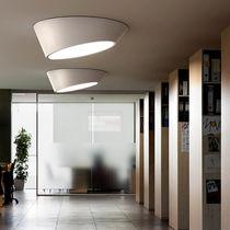 Contemporary ceiling light / round / methacrylate / polyurethane