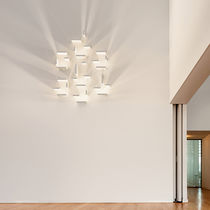 Contemporary wall light / glass / borosilicate glass / LED
