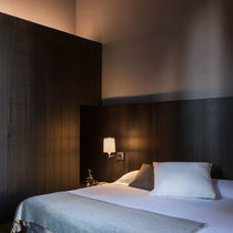 Contemporary wall light / steel / LED / fluorescent