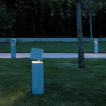 Garden bollard light / contemporary / concrete / methacrylate