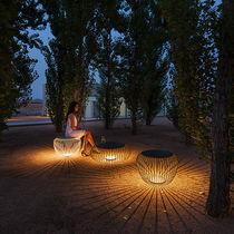 Floor lamp / contemporary / steel / glass