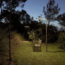 Garden lamppost / contemporary / polycarbonate / LED