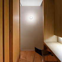 Contemporary wall light / glass / halogen / round