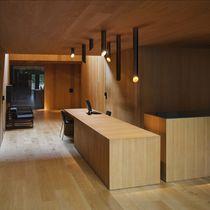 Contemporary ceiling light / linear / aluminum / polycarbonate