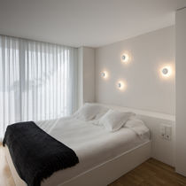Contemporary wall light / round / aluminum / LED