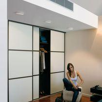 Contemporary ceiling light / round / aluminum / LED