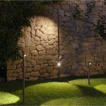 Garden bollard light / contemporary / metal / methacrylate