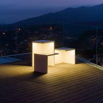 Floor lamp / contemporary / polycarbonate / concrete