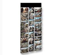 Wall-mounted display rack / for post cards / metal / panel