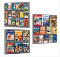 Wall-mounted display rack / periodicals / metal / for shops