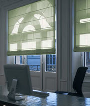 Roman blinds / fabric / commercial / electric