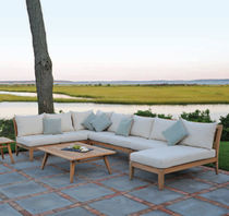 Modular sofa / traditional / garden / wood