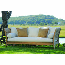 Traditional sofa / garden / teak / 3-seater