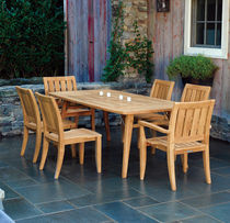 Traditional table and chair set / wooden / garden