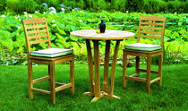 High bar table / traditional / wood / garden