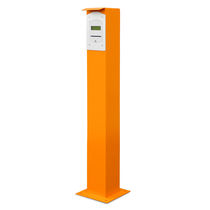 Access control bollard / aluminum / for parking lots / high