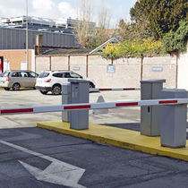 Access control bollard / steel / for parking lots