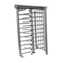 Full-height turnstile / stainless steel / for access control / for public areas