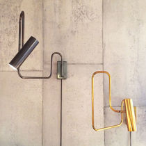 Contemporary wall light / brass / LED / adjustable