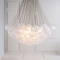 Contemporary chandelier / glass / metal / incandescent