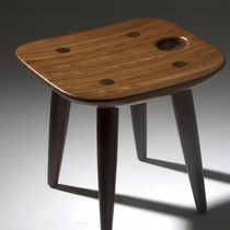 Contemporary stool / wooden