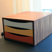 Wooden office unit / 3-drawer / by Finn Juhl