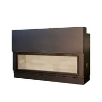 Closed wood hearth / 1-sided / double-sided / steel