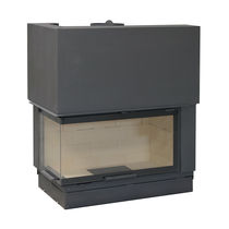 Closed wood hearth / corner / double-sided / 3-sided