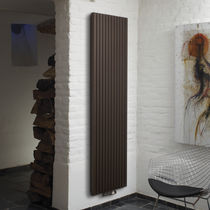 Hot water radiator / metal / contemporary / vertical