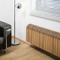 Hot water radiator / low-temperature / wooden / contemporary