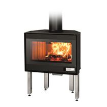 Closed wood hearth / 1-sided / metal