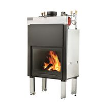 Closed wood hearth / 1-sided / metal / for boiler fireplaces