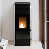 Pellet boiler stove / contemporary / steel