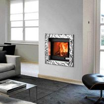 Contemporary fireplace surround / stainless steel / aluminum