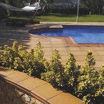 Poolside tile / floor / ceramic / clinker
