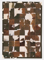 Contemporary rug / patterned / leather / rectangular