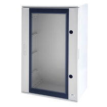Wall-mounted electrical enclosure / commercial / equipped / with transparent cover